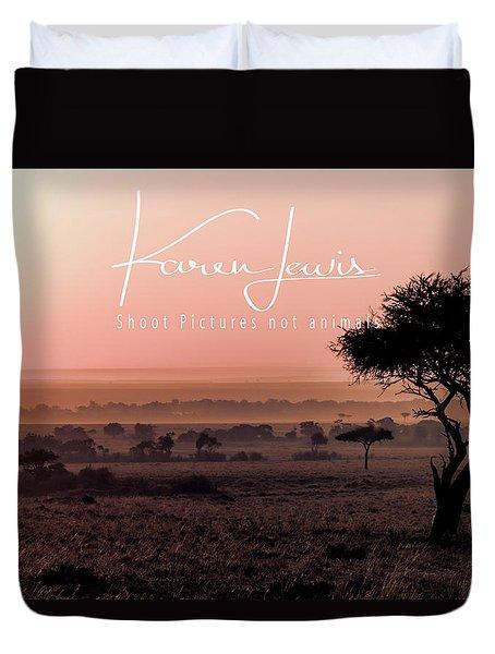 Duvet Cover featuring the photograph Mara Pink Dawn  by Karen Lewis
