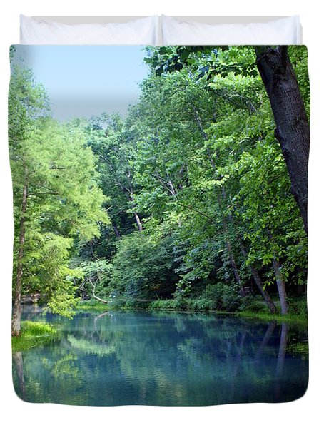 Maramec Springs 2 Duvet Cover by Marty Koch