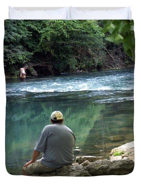 Maramec Springs 6 Duvet Cover by Marty Koch