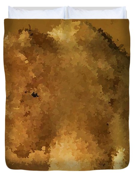 Marble Bison Duvet Cover