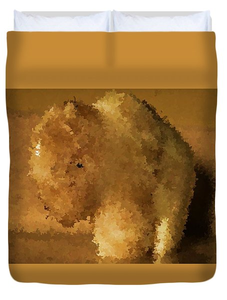 Duvet Cover featuring the photograph Marble Bison by Richard Ricci