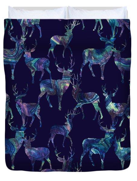 Marble Deer Duvet Cover