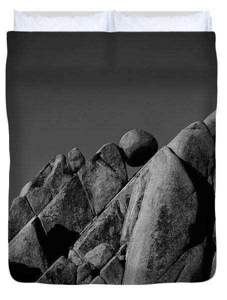 Marble Rock Formation B And W Version Duvet Cover