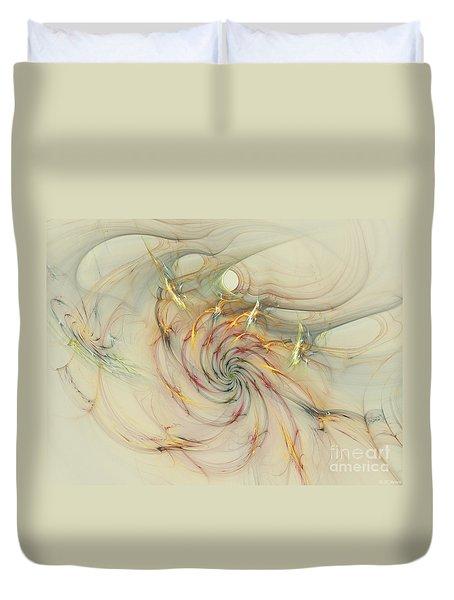 Marble Spiral Colors Duvet Cover by Deborah Benoit