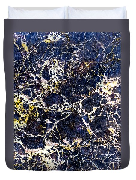 Marble Stone Texture Wall Tile Duvet Cover by John Williams