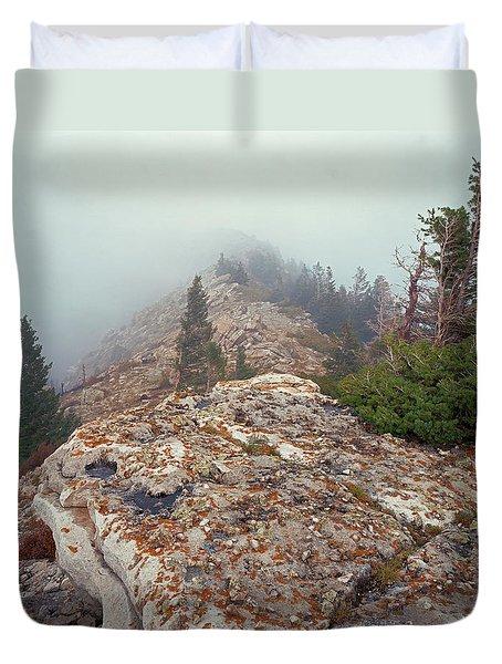 Marble View Fog Duvet Cover