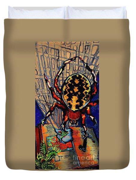 Marbled Orbweaver Duvet Cover
