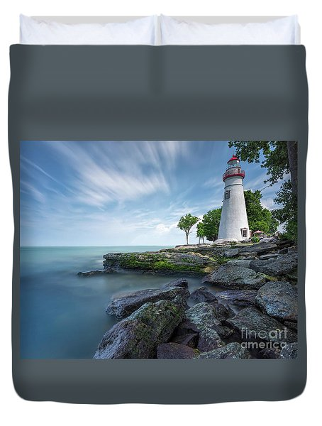Marblehead Breeze Duvet Cover by James Dean