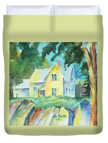 Marblehead Cottage Duvet Cover by Lee Beuther
