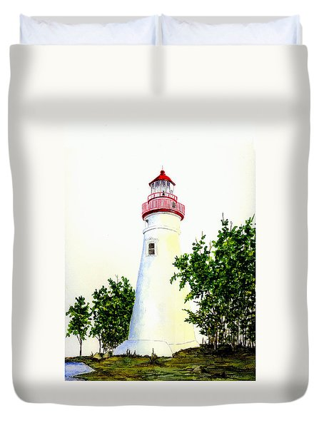 Marblehead Lighthouse Duvet Cover by Michael Vigliotti