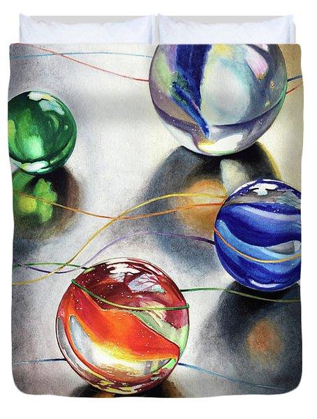 Marbles 3 Duvet Cover