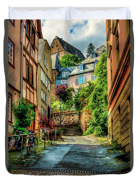 Duvet Cover featuring the photograph Marburg Alley by David Morefield