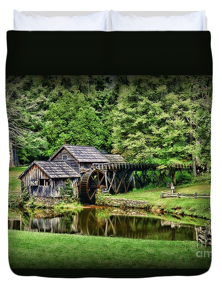 Marby Mill Landscape Duvet Cover by Paul Ward