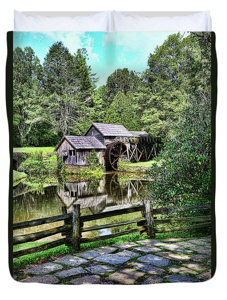 Marby Mill Pathway Duvet Cover by Paul Ward