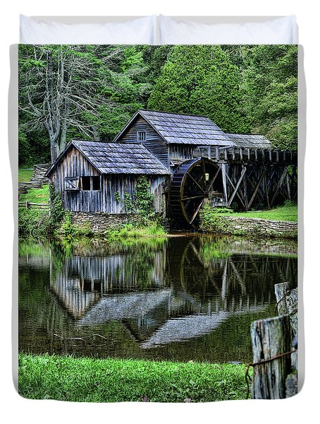 Marby Mill Reflection Duvet Cover by Paul Ward