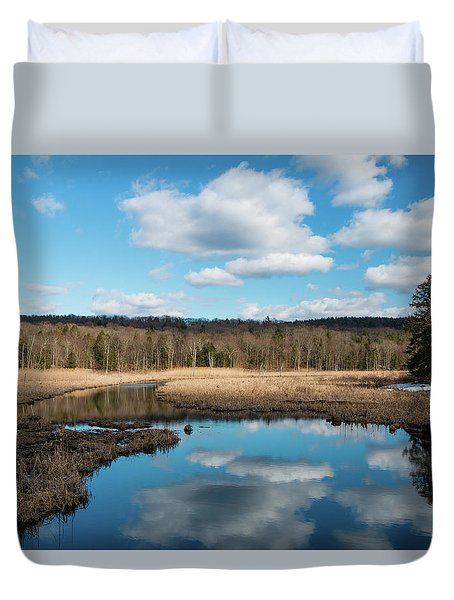 March Afternoon At Black Creek Duvet Cover