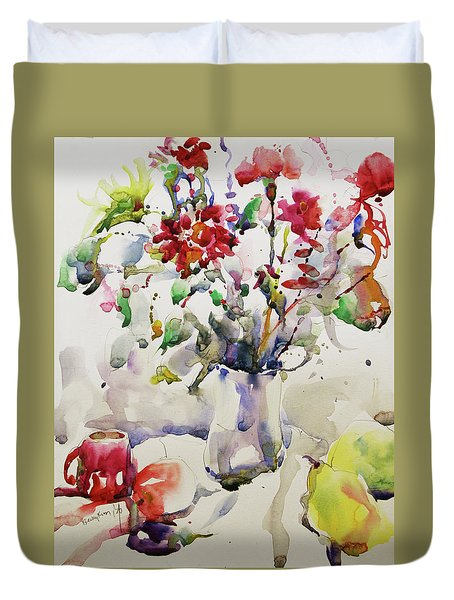 March Greeting Duvet Cover by Becky Kim