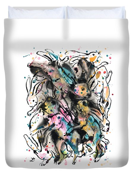 March Hares Duvet Cover