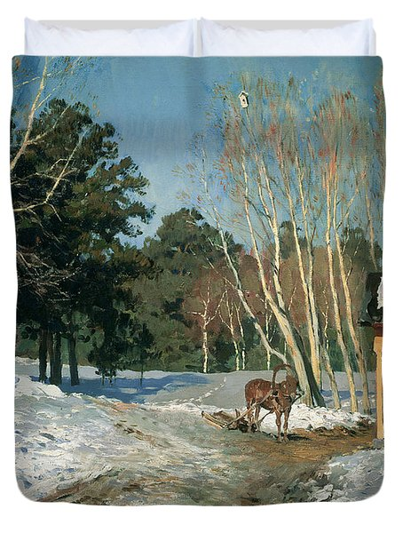 March Duvet Cover by Isaak Ilyich Levitan