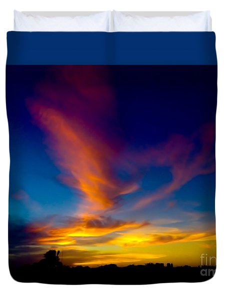 Sunset March 31, 2018 Duvet Cover