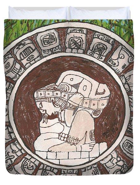 March  The Mayan Calendar Duvet Cover