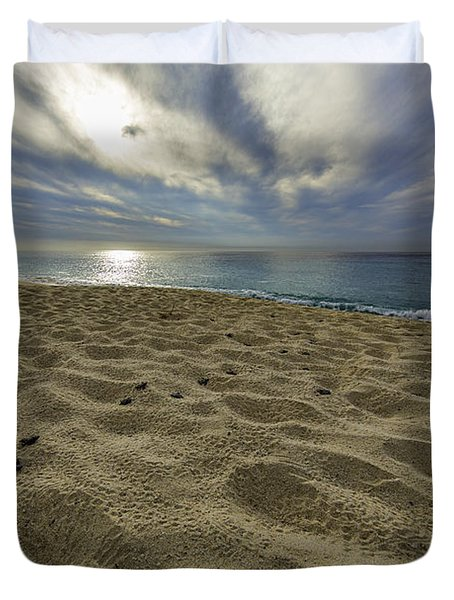March To The Sea Duvet Cover