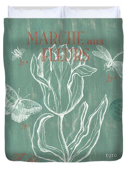 Marche Aux Fleurs Duvet Cover