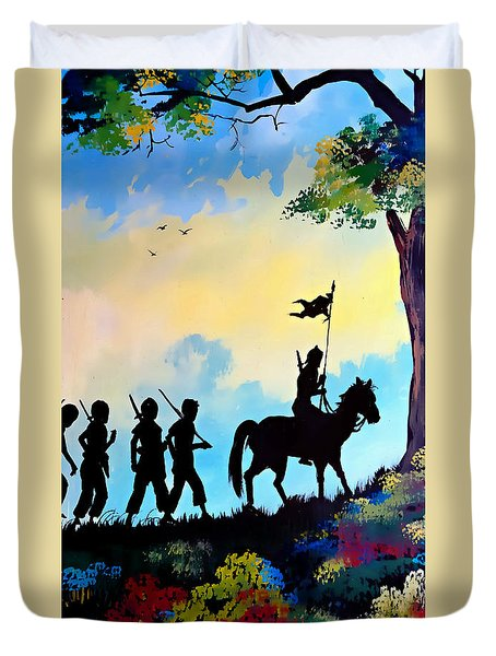 Marching At Daybreak Duvet Cover