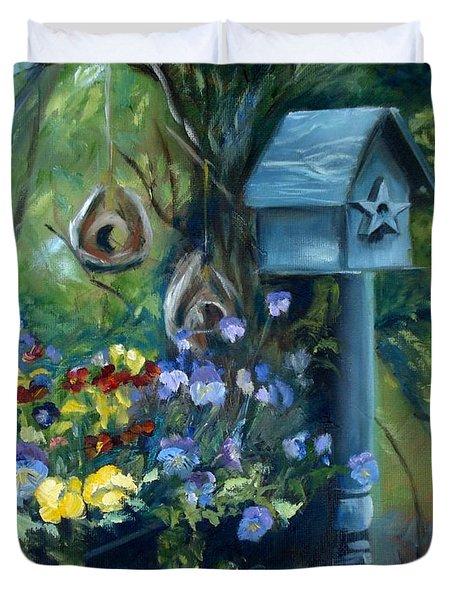 Marcia's Garden Duvet Cover