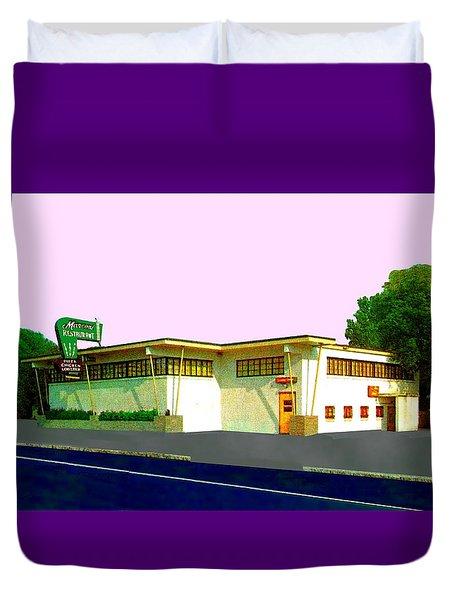 Marconi's Restaurant Duvet Cover
