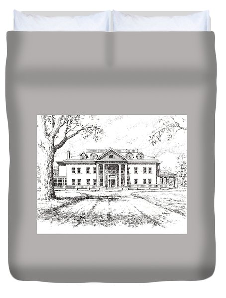 Marcus Daly Mansion Hamilton Montana Duvet Cover by Kevin Heaney