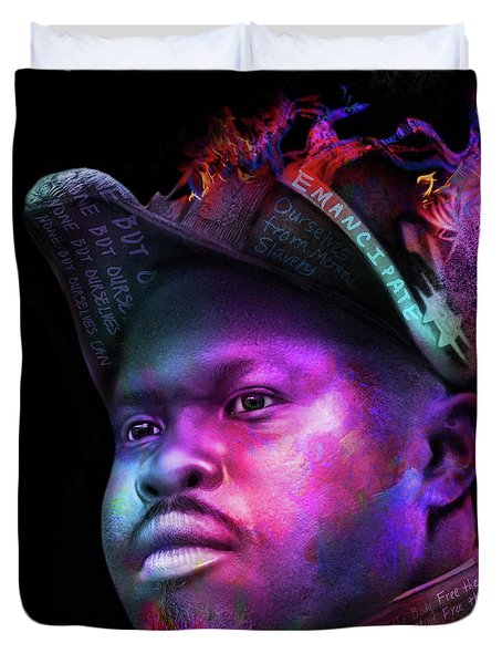 Marcus Garvey Portrait Duvet Cover