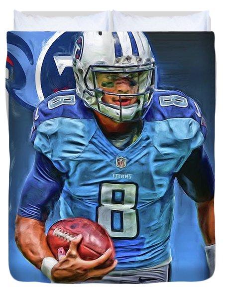 Marcus Mariota Tennessee Titans Oil Art Duvet Cover