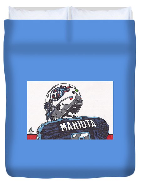 Marcus Mariota Titans 2 Duvet Cover by Jeremiah Colley