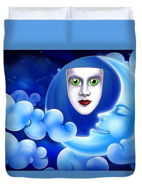 Mardi Gras At Night Duvet Cover