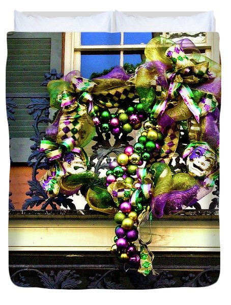 Mardi Gras Decor 1 Duvet Cover