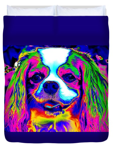 Mardi Gras Dog Duvet Cover