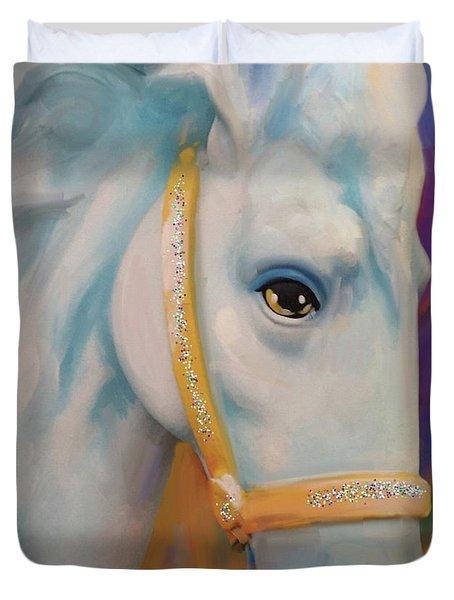 Mardi Gras Horse Duvet Cover
