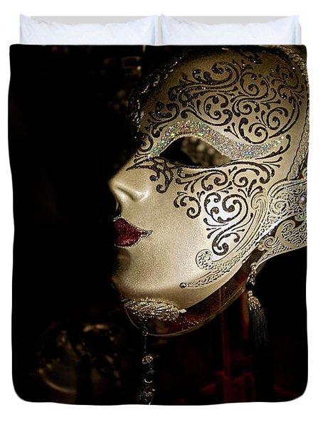 Mardi Gras Mask Duvet Cover