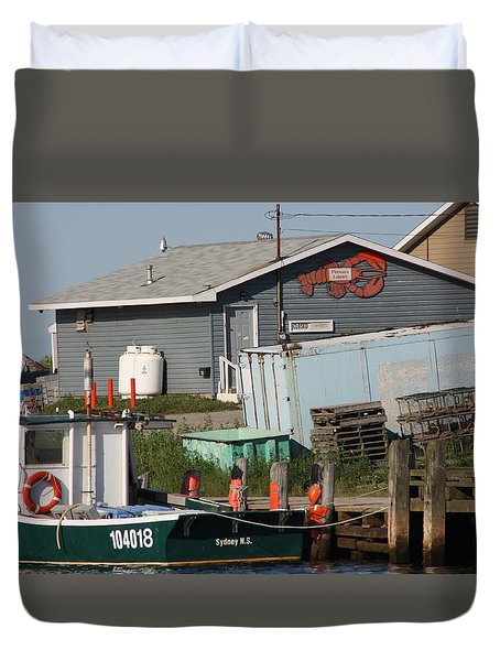 Duvet Cover featuring the photograph Margaree Harbor by Robin Regan