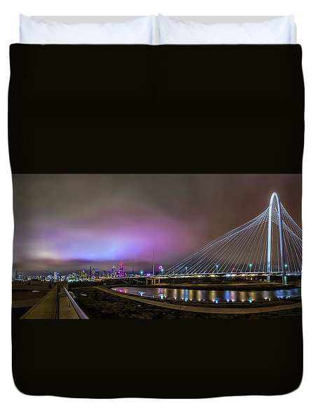 Margaret Hunt Hill Bridge - Dallas Texas Duvet Cover