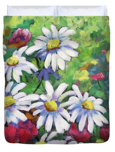 Marguerites 001 Duvet Cover by Richard T Pranke