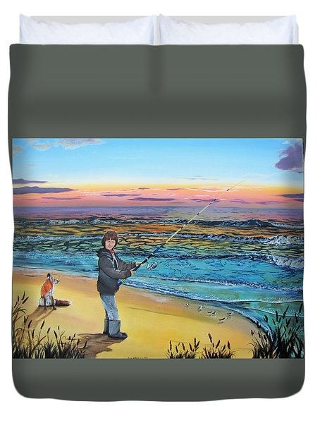 Duvet Cover featuring the painting Maria Mae by Kevin F Heuman