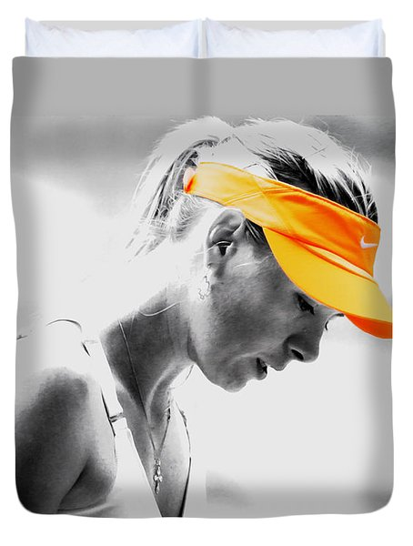 Maria Sharapova Stay Focused Duvet Cover by Brian Reaves