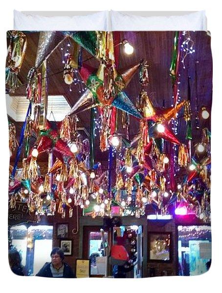 Mariachi Bar In San Antonio Duvet Cover