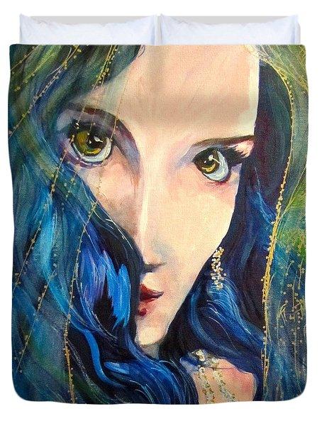 Mariah Blue Duvet Cover by Barbara O'Toole