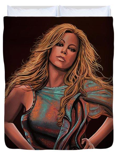 Mariah Carey Painting Duvet Cover