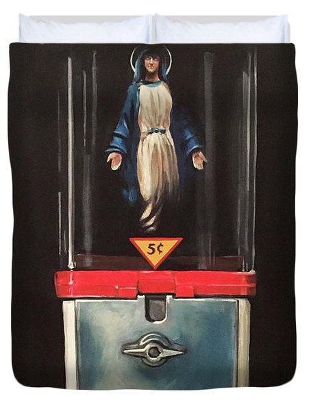 Marian Apparitions- 5 Cents Duvet Cover