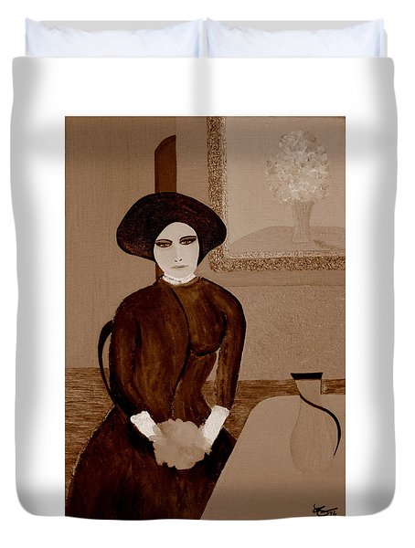 Marianne Waiting Duvet Cover by Bill OConnor