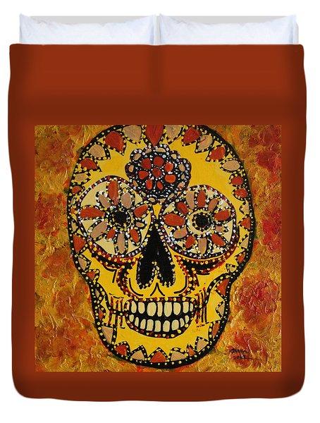 Marigold Skull Duvet Cover